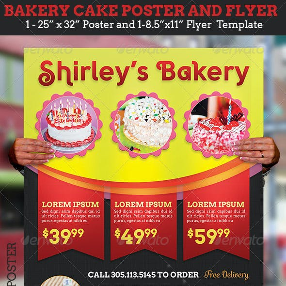 Bakery Cake Flyer Poster Template