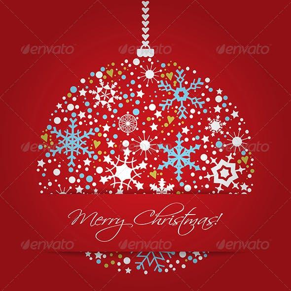 Bright Christmas Balls Background