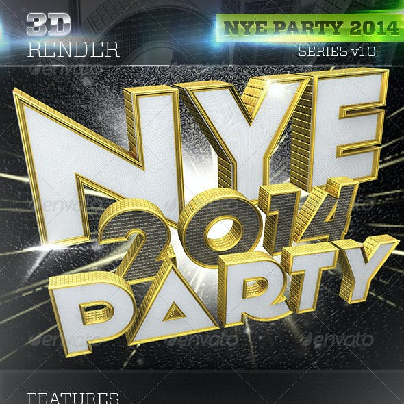 3D NYE Party 2014 Pack Texts
