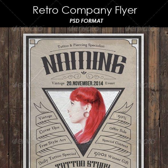 Retro Company Flyer