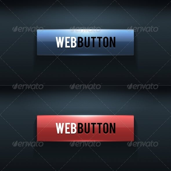 Set of Two Glossy Buttons