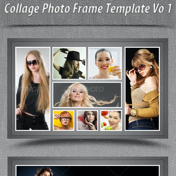 Collage Photo Frame Template Vo 1