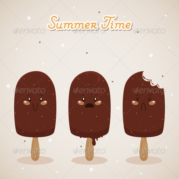 Summer with Ice Cream - Food Objects