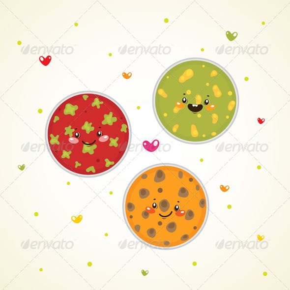 Bacteria in Petri Dishes
