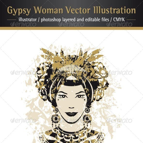 Gypsy Woman Vector Illustration