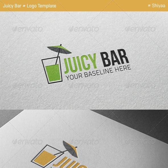 Juicy Bar Logo Template