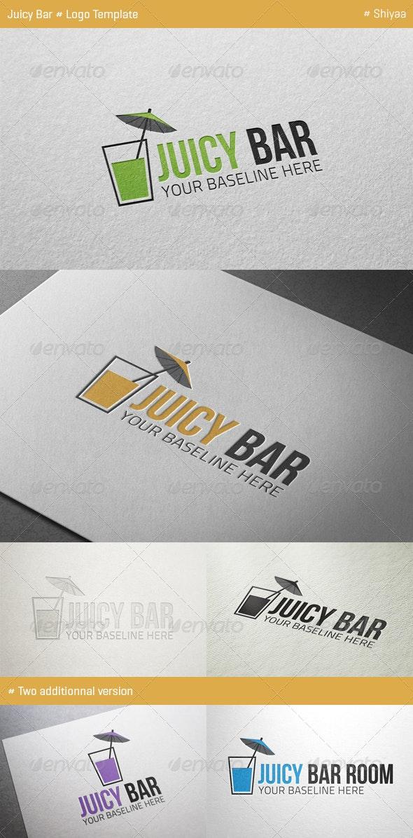 Juicy Bar Logo Template - Food Logo Templates