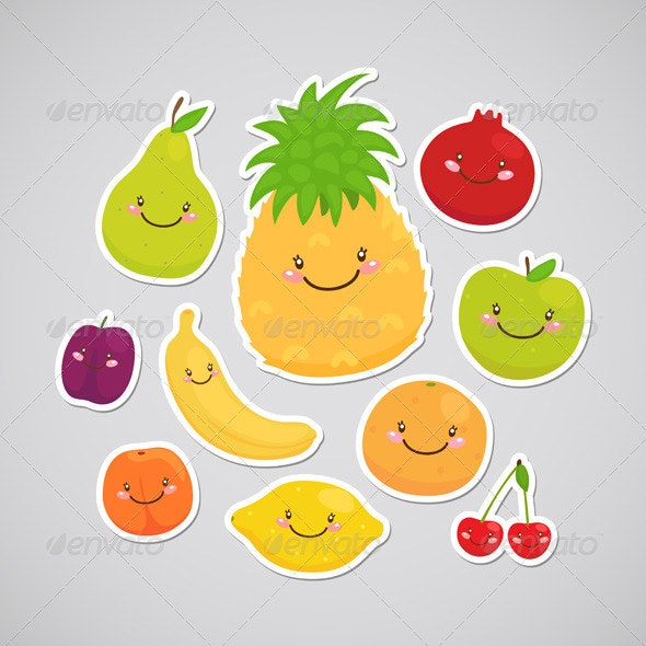 Fruit Stickers - Food Objects