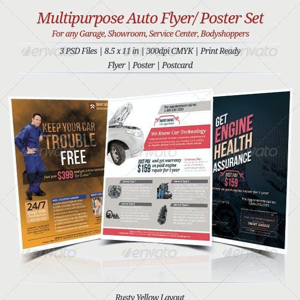 Multipurpose Auto Flyer Poster