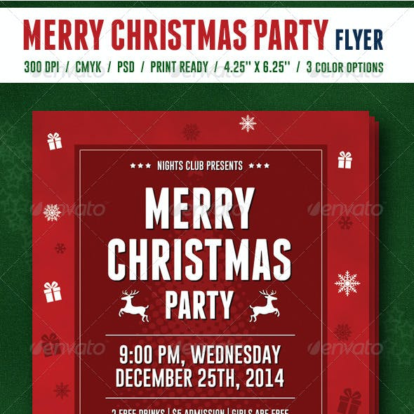 Merry Cristmas Party Flyer