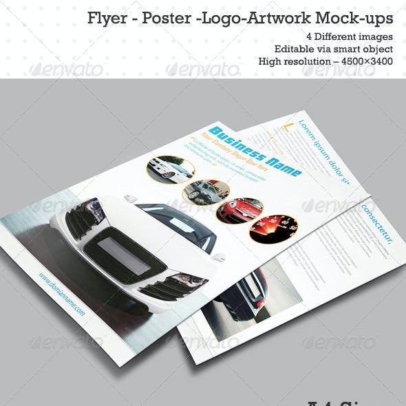 Flyer Poster Logo Artwork Mock-ups