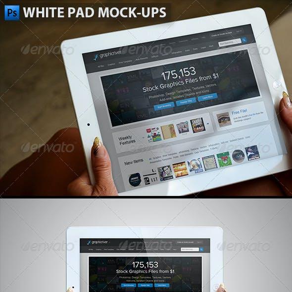 White Pad Mock-ups