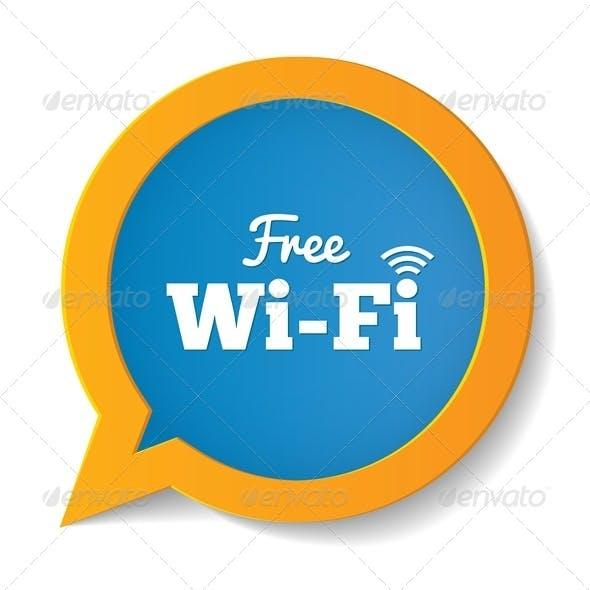 Wifi Speech Bubble. Free Wifi Symbol. Wireless.