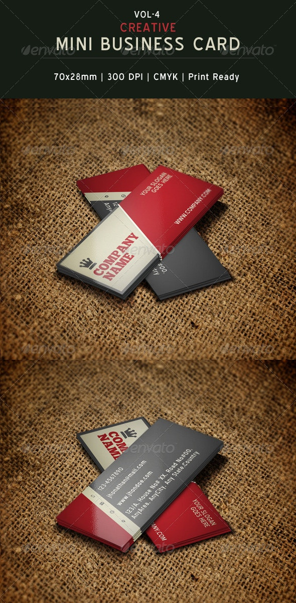 Creative Mini Business Card Template 04 - Creative Business Cards