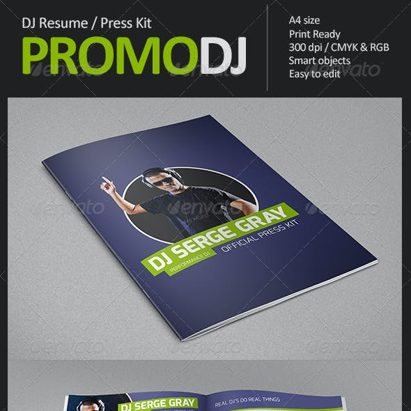 PromoDJ - DJ Resume / Press Kit