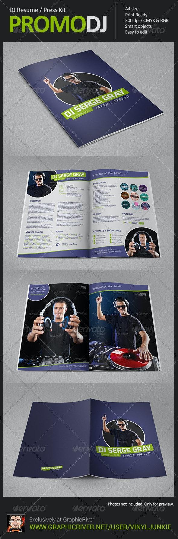 PromoDJ - DJ Resume / Press Kit - Resumes Stationery