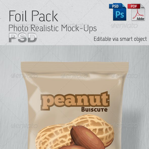Foil Pack Photo Realistic Mock-Up