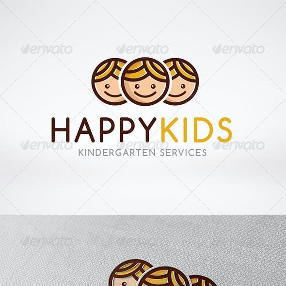 Happy Kids Logo Template
