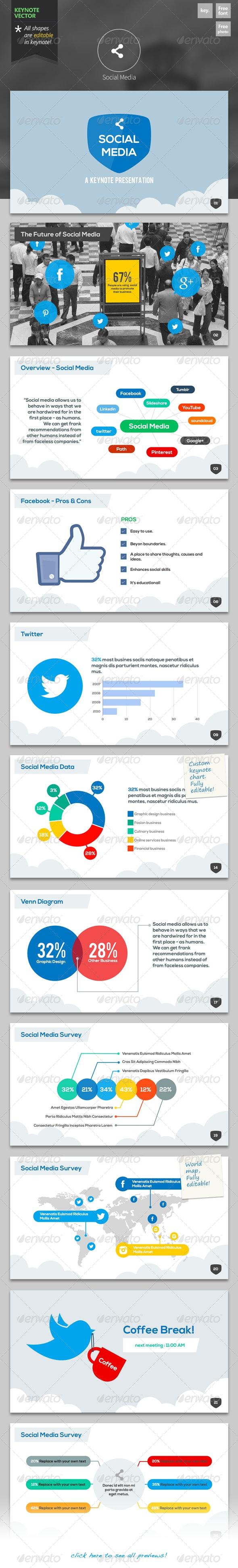 Social Media - Keynote Template - Keynote Templates Presentation Templates