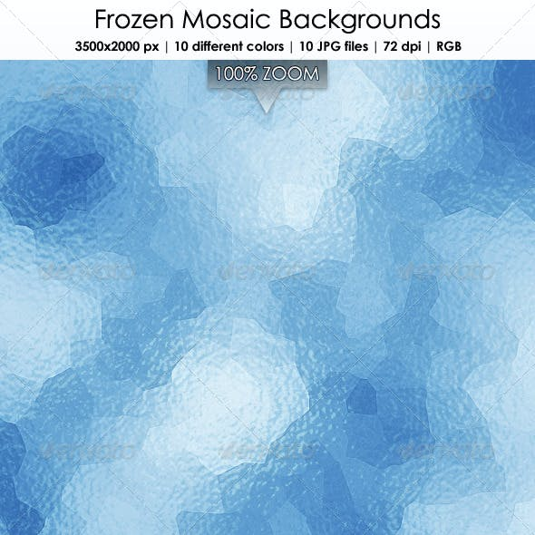 Frozen Mosaic Backgrounds