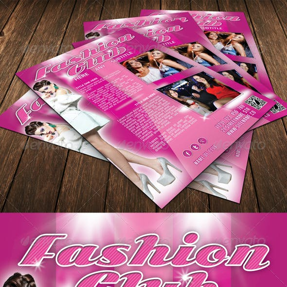 Fashion Club Flyer Template 14