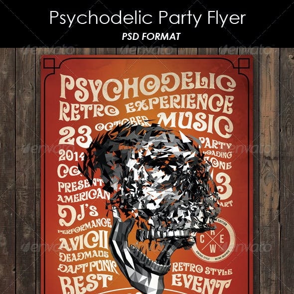 Psychodelic Party Flyer