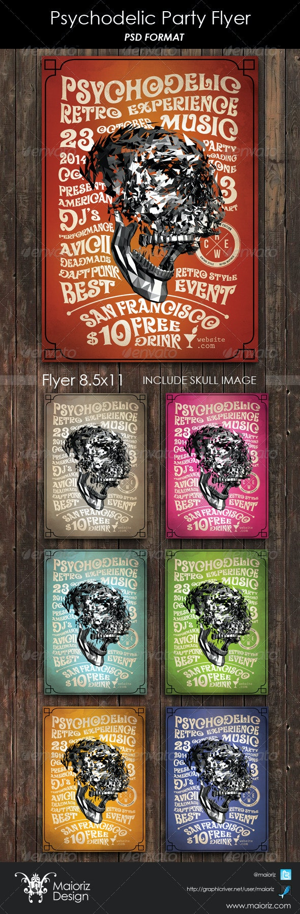 Psychodelic Party Flyer - Clubs & Parties Events