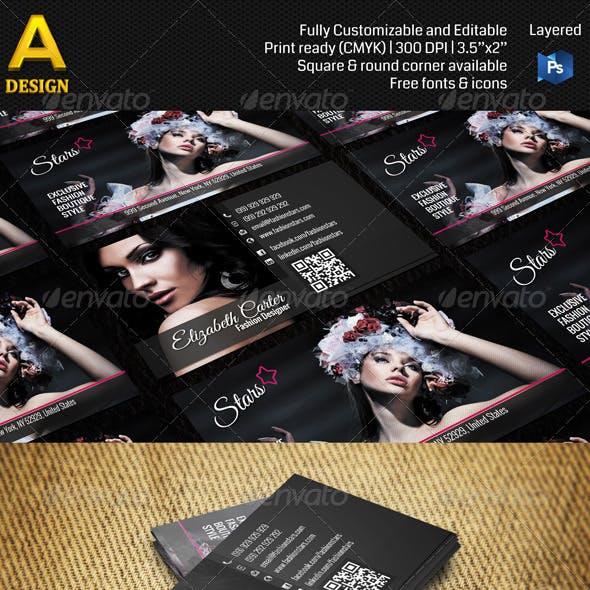 Fashion Designer Business Card AN0003