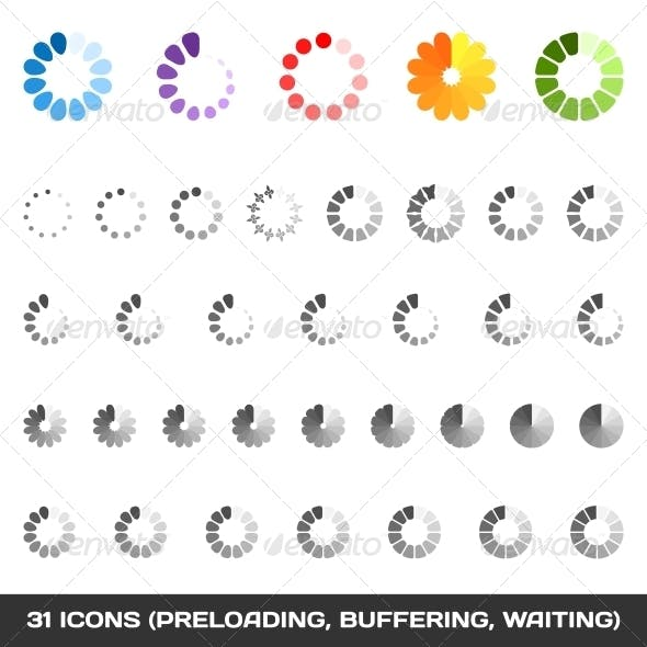 Loading and Buffering Icon Set