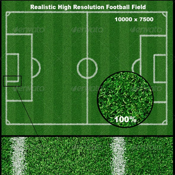 Realistic Football Field Background
