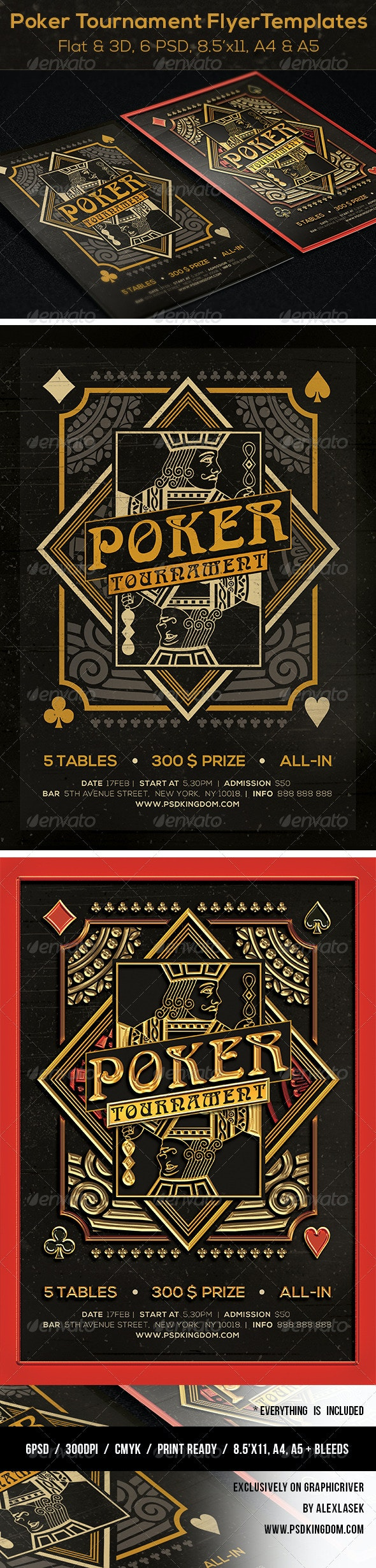 Poker Magazine Ad, Poster or Flyer – Flat & 3D - Sports Events