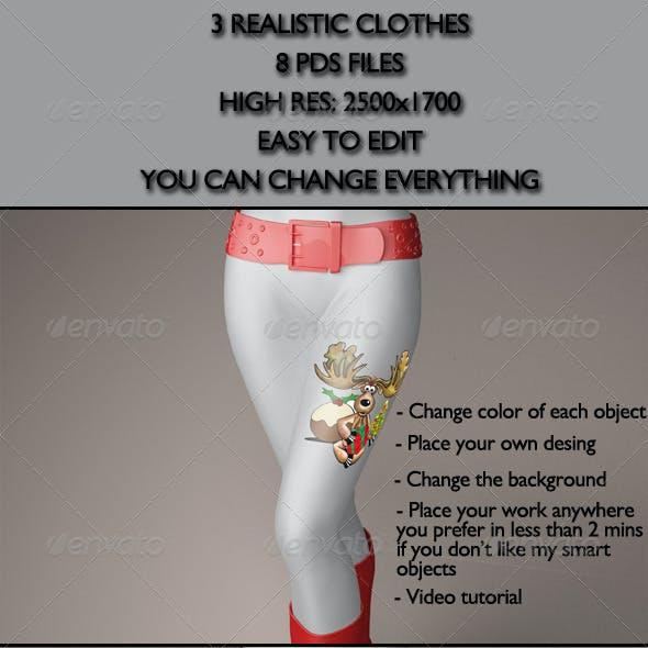Realistic Clothes/Pants/Belts/Heels Mock-Ups