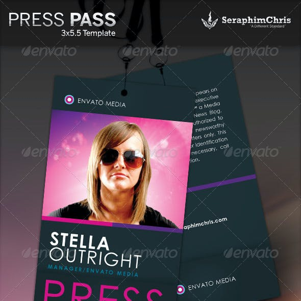 Press Pass 4 Template