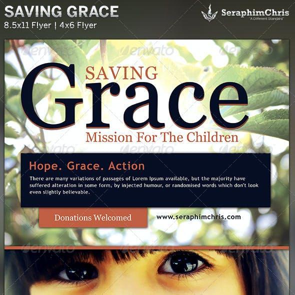 Saving Grace: Church Charity Flyer Template