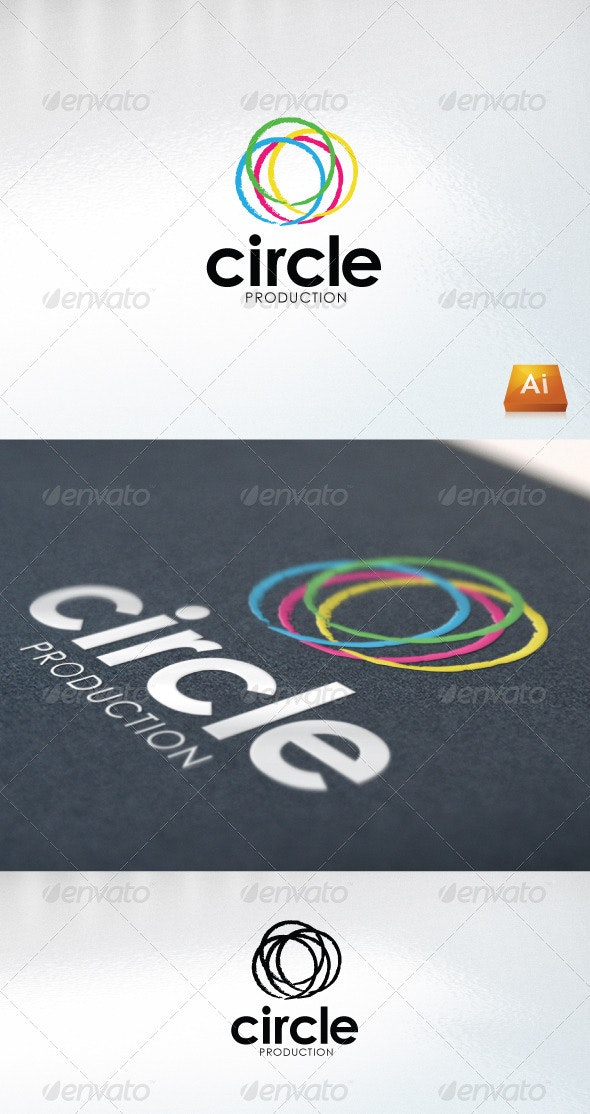 Circle Production - Abstract Logo Templates