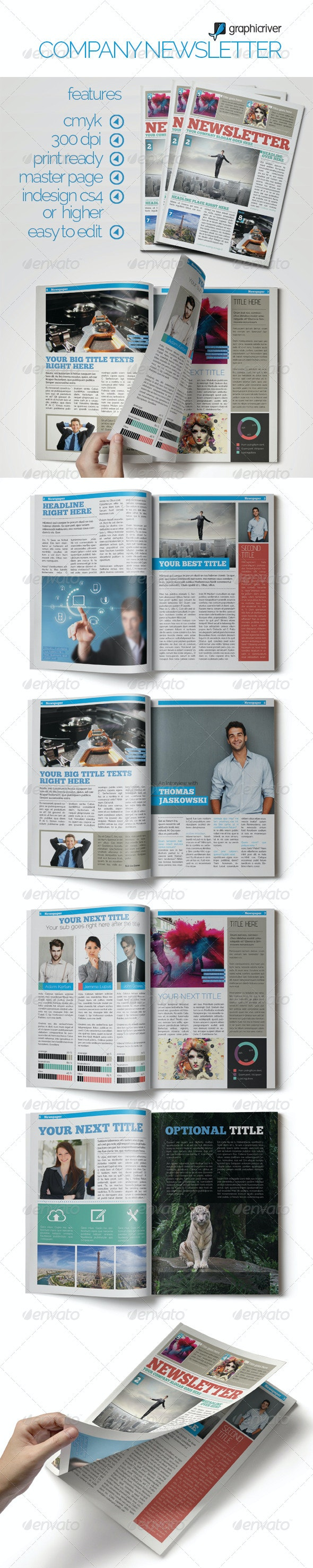 Smart Company Newsletter - Newsletters Print Templates