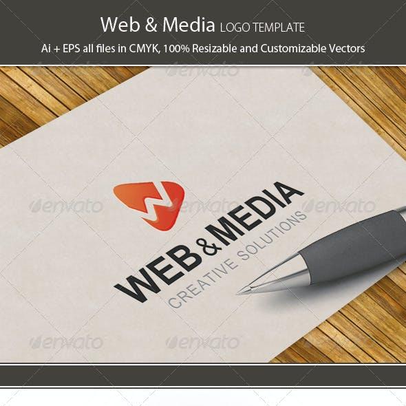 Web & Media Logo Template