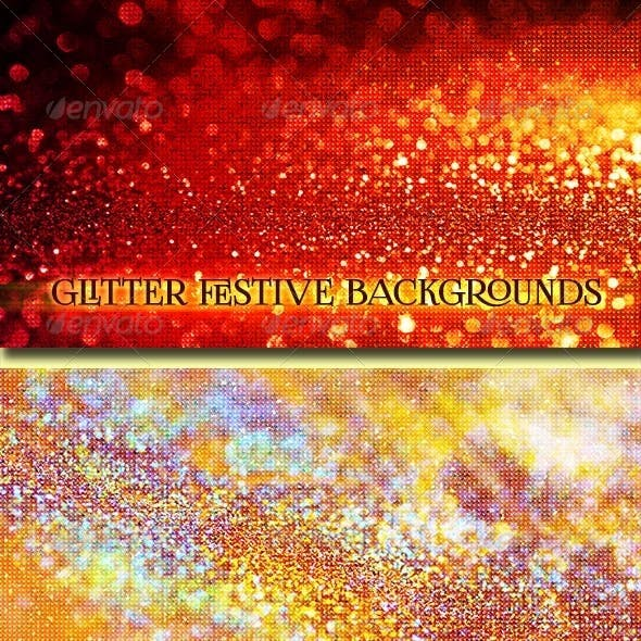 Glitter Festive Backgrounds