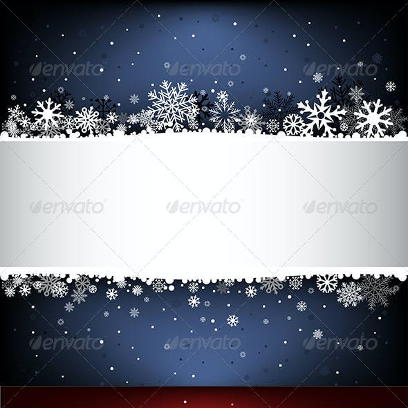Snow Mesh Background with Text Area