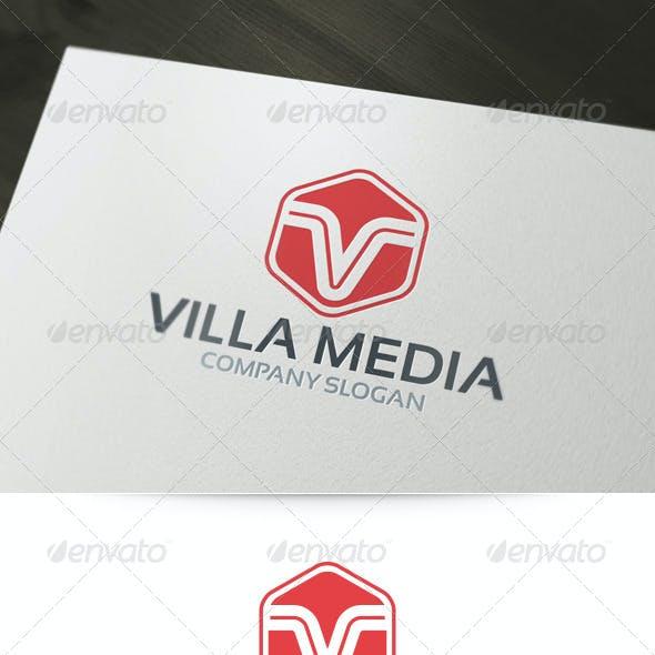 Villa Media - Letter V Logo