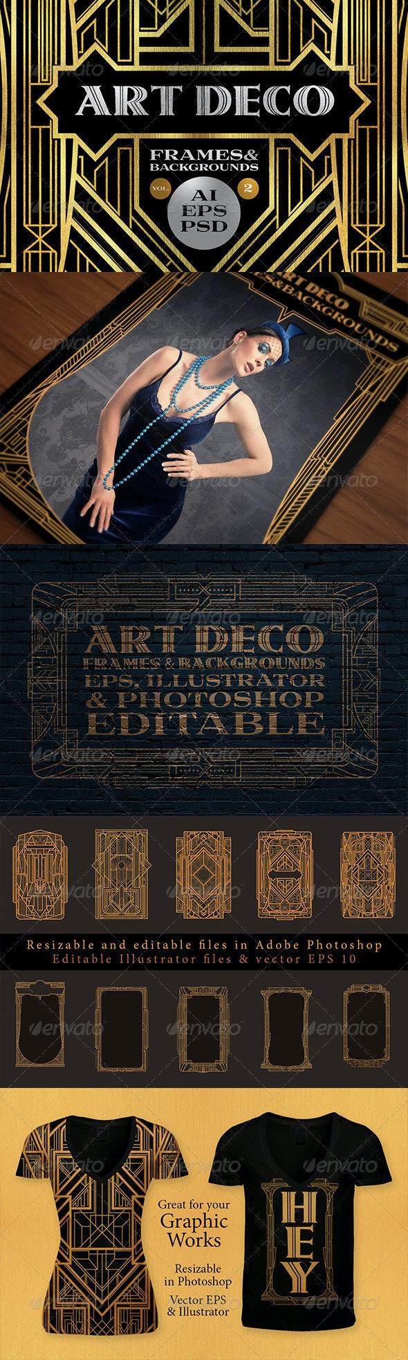 10 Frames Vol.2 - Art Deco Style - Borders Decorative