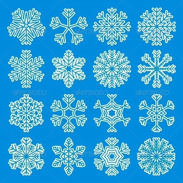 White Snowflakes Icons