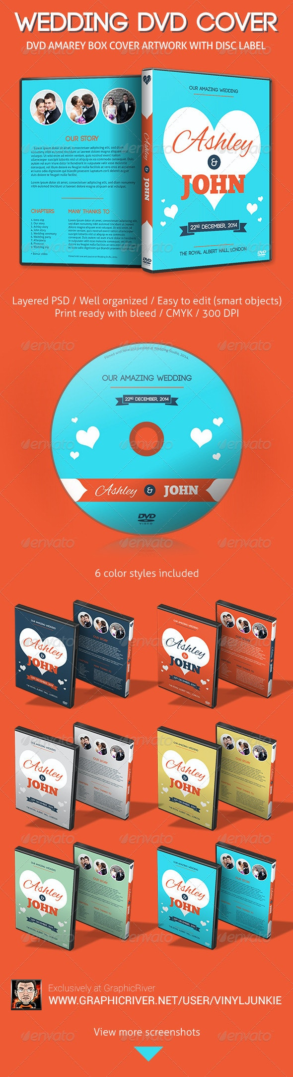 Our Amazing Wedding - DVD Cover Artwork - CD & DVD Artwork Print Templates