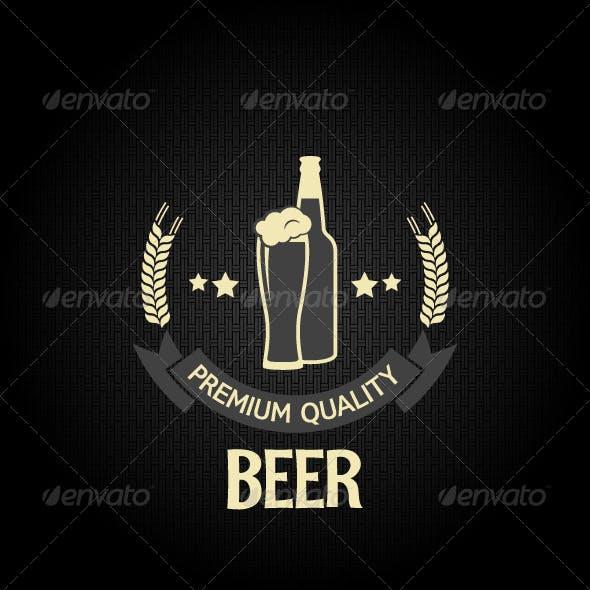 Beer Glass Bottle Dark Background