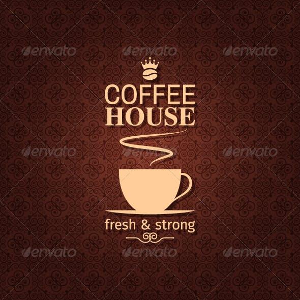 Coffee Vintage Pattern Background