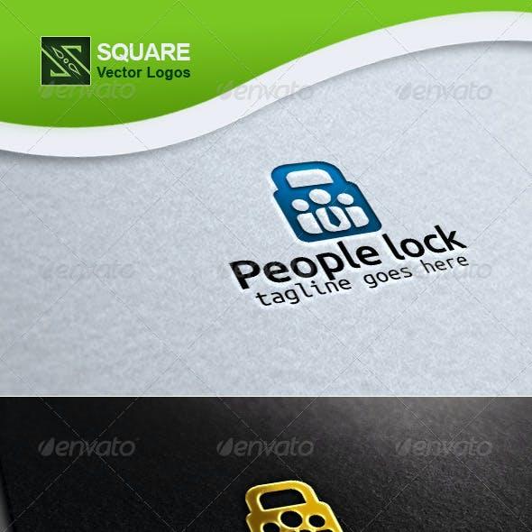 People, Lock Vector Logo Template