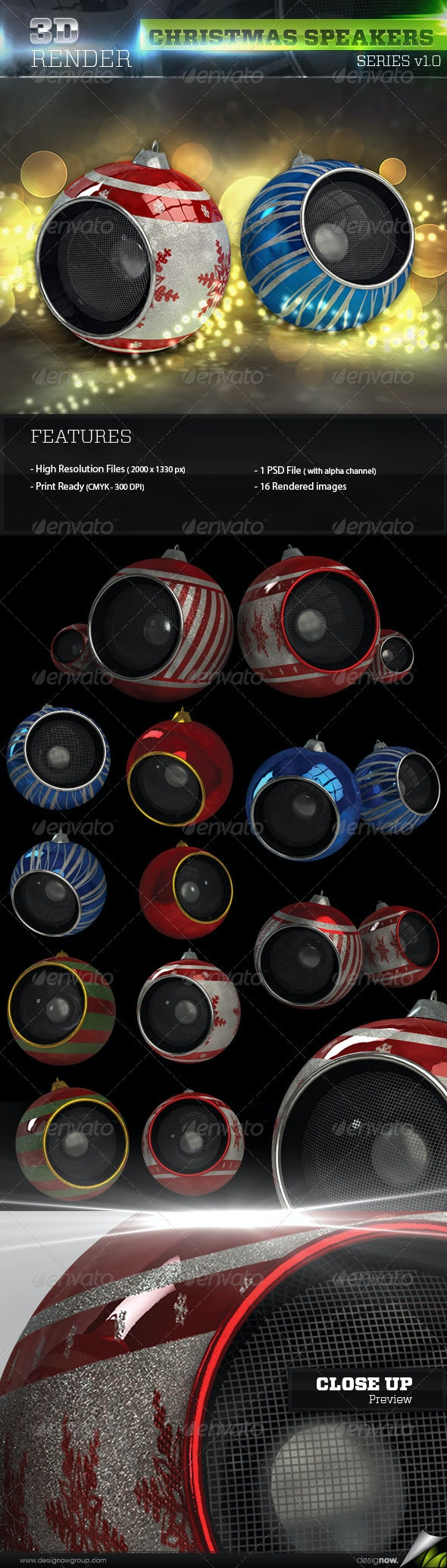 Christmas Speaker - Objects 3D Renders