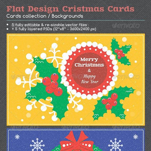 Flat Design Christmas Cards