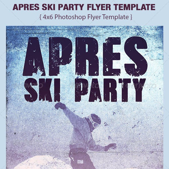 Apres Ski Party Flyer Template