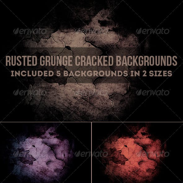 Rusted Grunge Cracked Backgrounds